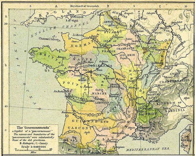 Provinces d'avant 1789
