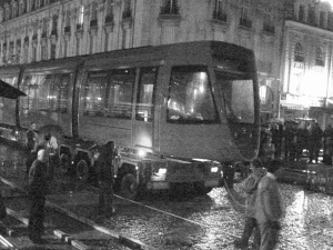 Arrivée du tram à Reims