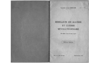 """1958 France. """"école"""" contre insurrectionnelle de l'armée coloniale française"""