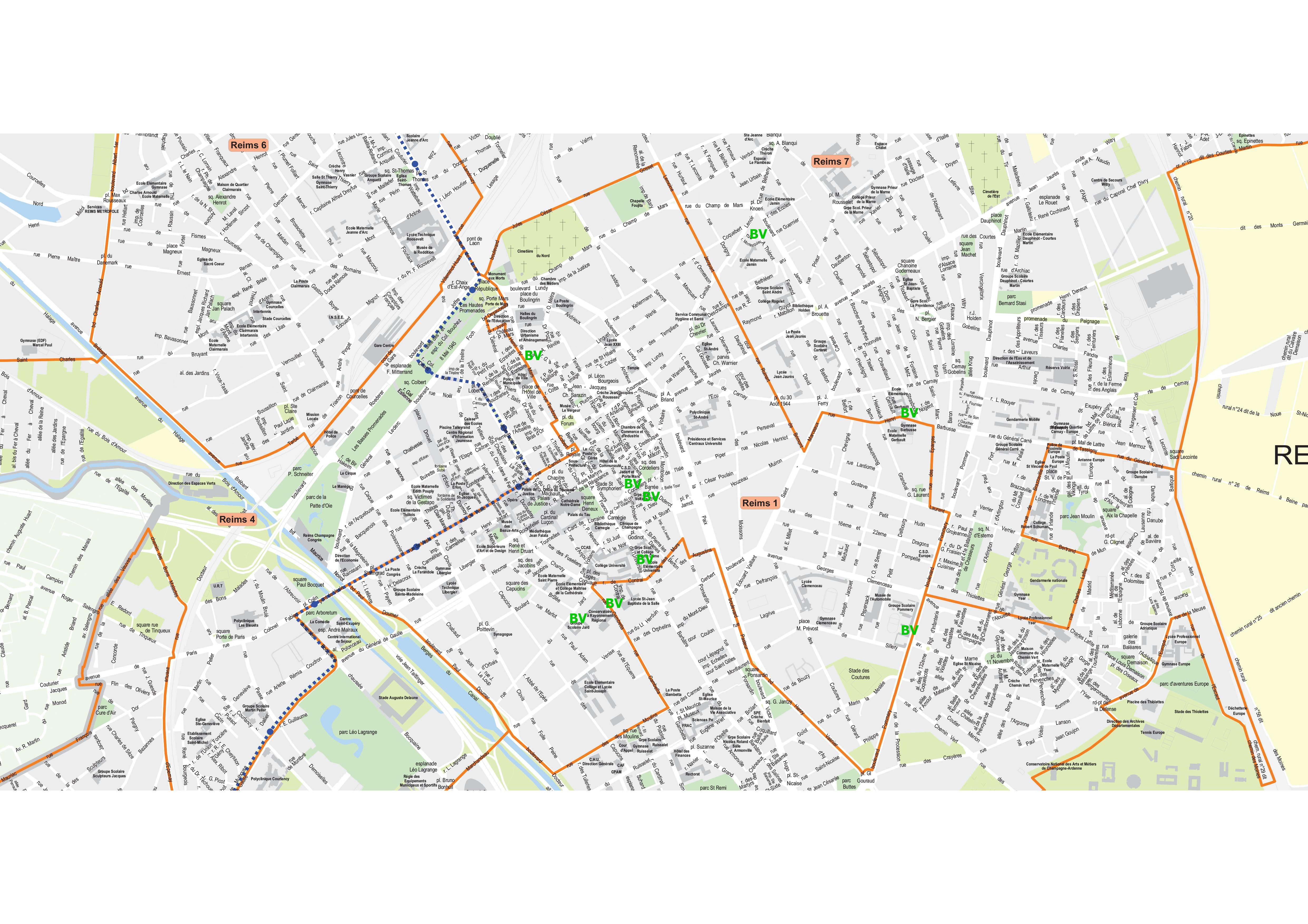 Le premier canton de reims o voter le 22 et le 29 mars - Carte de visite reims ...