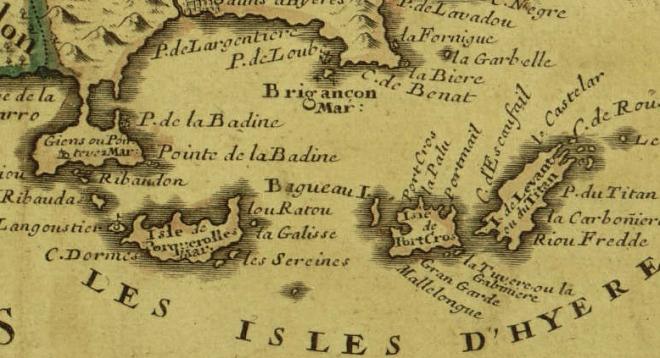 Brégançon Îles_d'Hyères_old_map