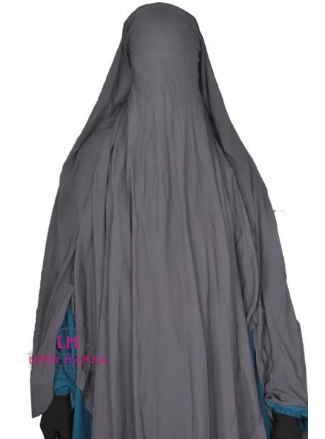 niqab-sitar-cape-a-clips-umm-hafsa-1m60-gris