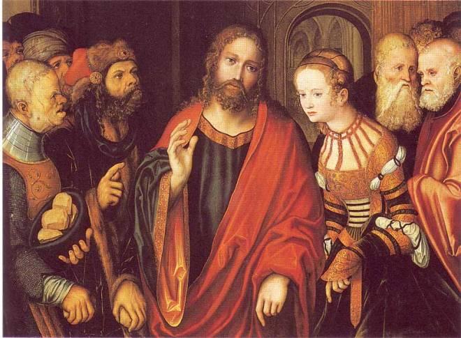 Cranach_d.Ä.,_Lucas_-_Christus_und_die_Ehebrecherin_-_Fränkische_Galerie_-_1520