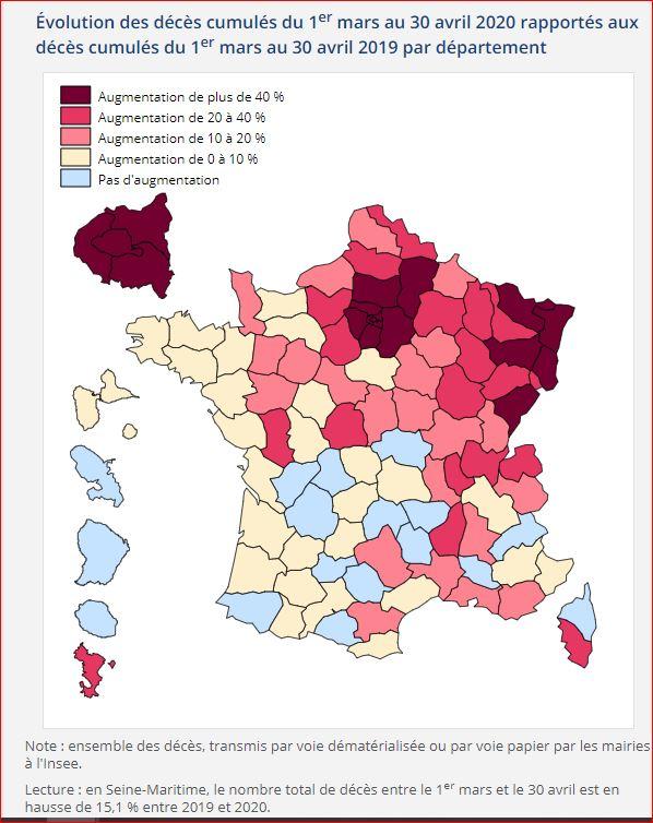 insee covid disparité géographique sommet pic