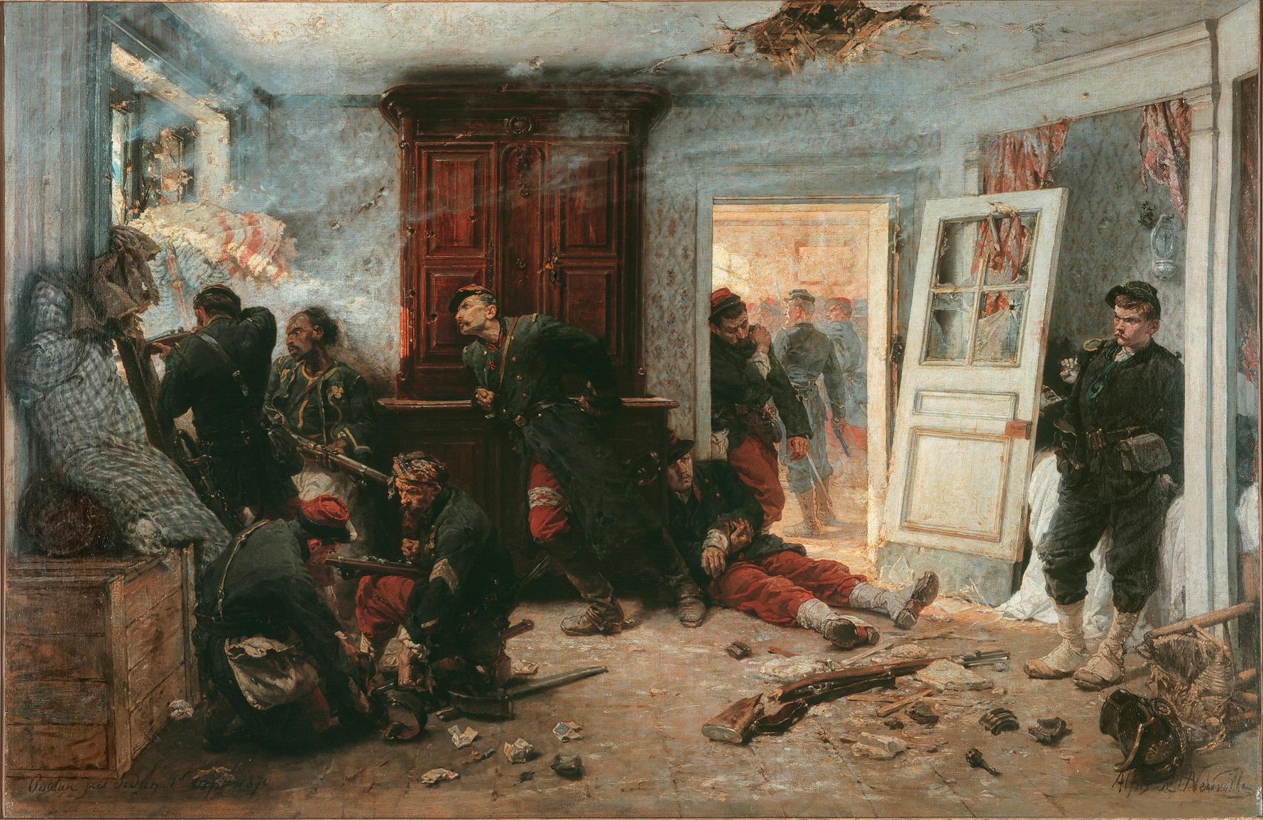 Alphonse-Marie-Adolphe_de_Neuville_-_Les_dernières_cartouches_(1873)